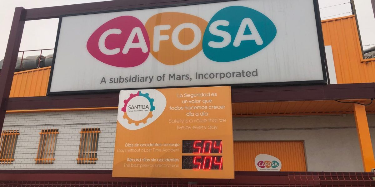 days without accidents cafosa